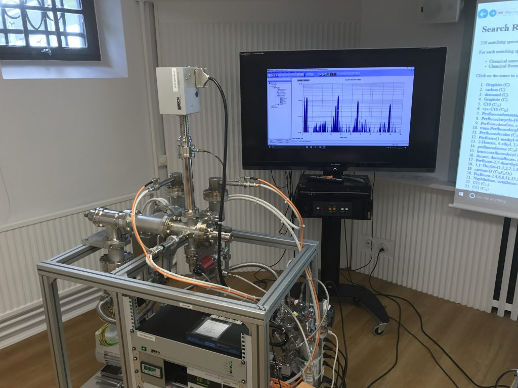 Hiden HAL 101 RC RGAs, set up ready for the first Residual Gas Analysis workshop