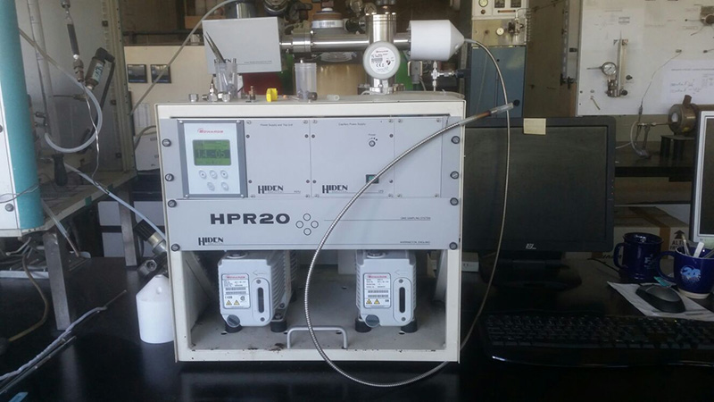The Hiden HPR-20 EGA in the Lab used for characterisation and testing of catalytic samples