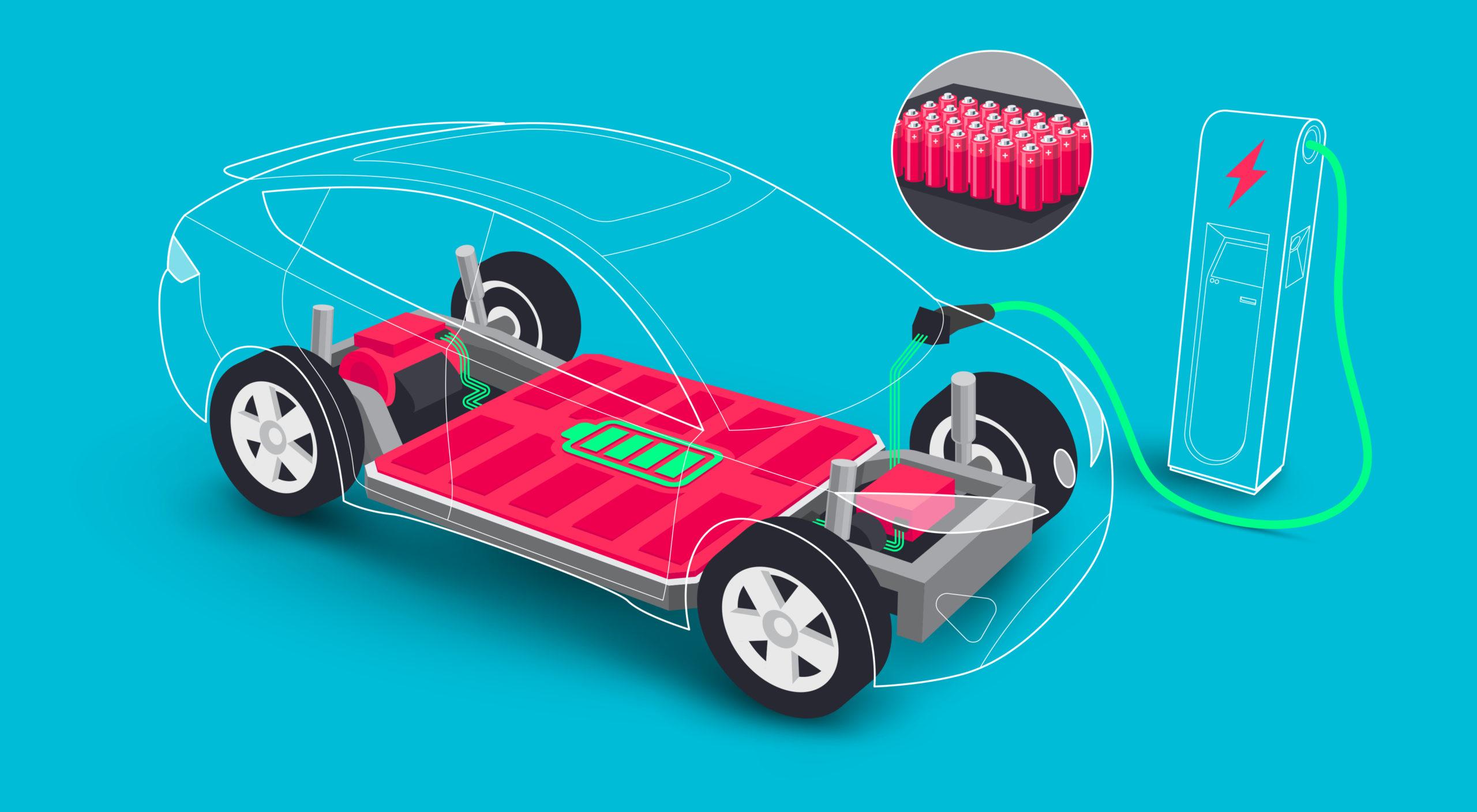 Cartoon depicting electronic drivetrain